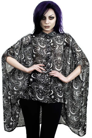 New Moon Batwing Blouse [B]