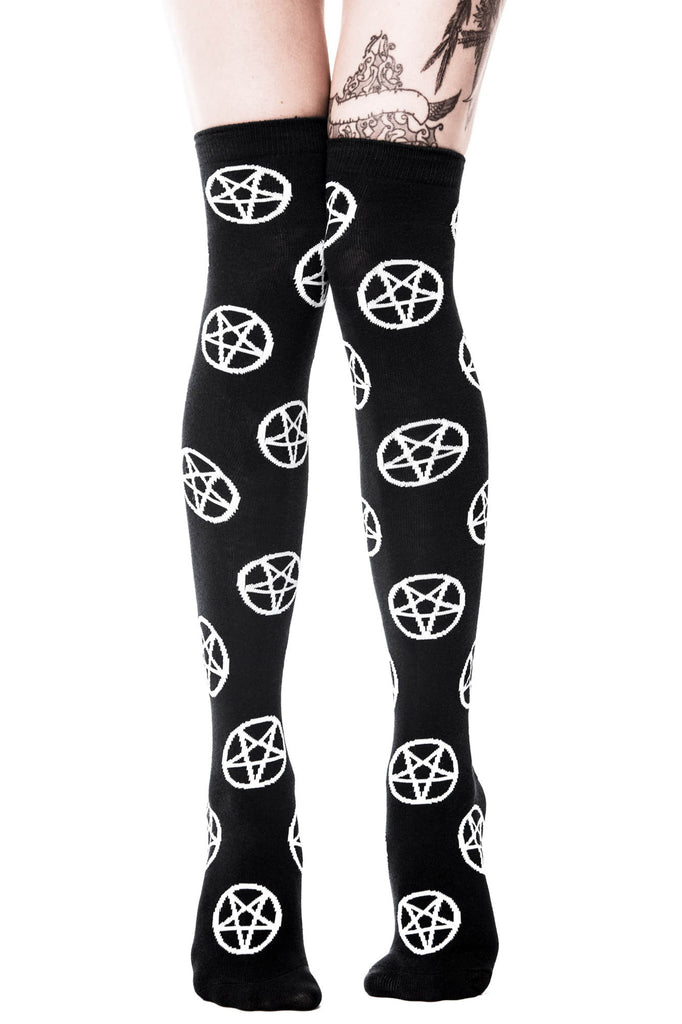 Pentagram Over The Knee Socks [B]