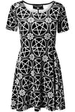 Pentagram Velvet Skater Dress [B]