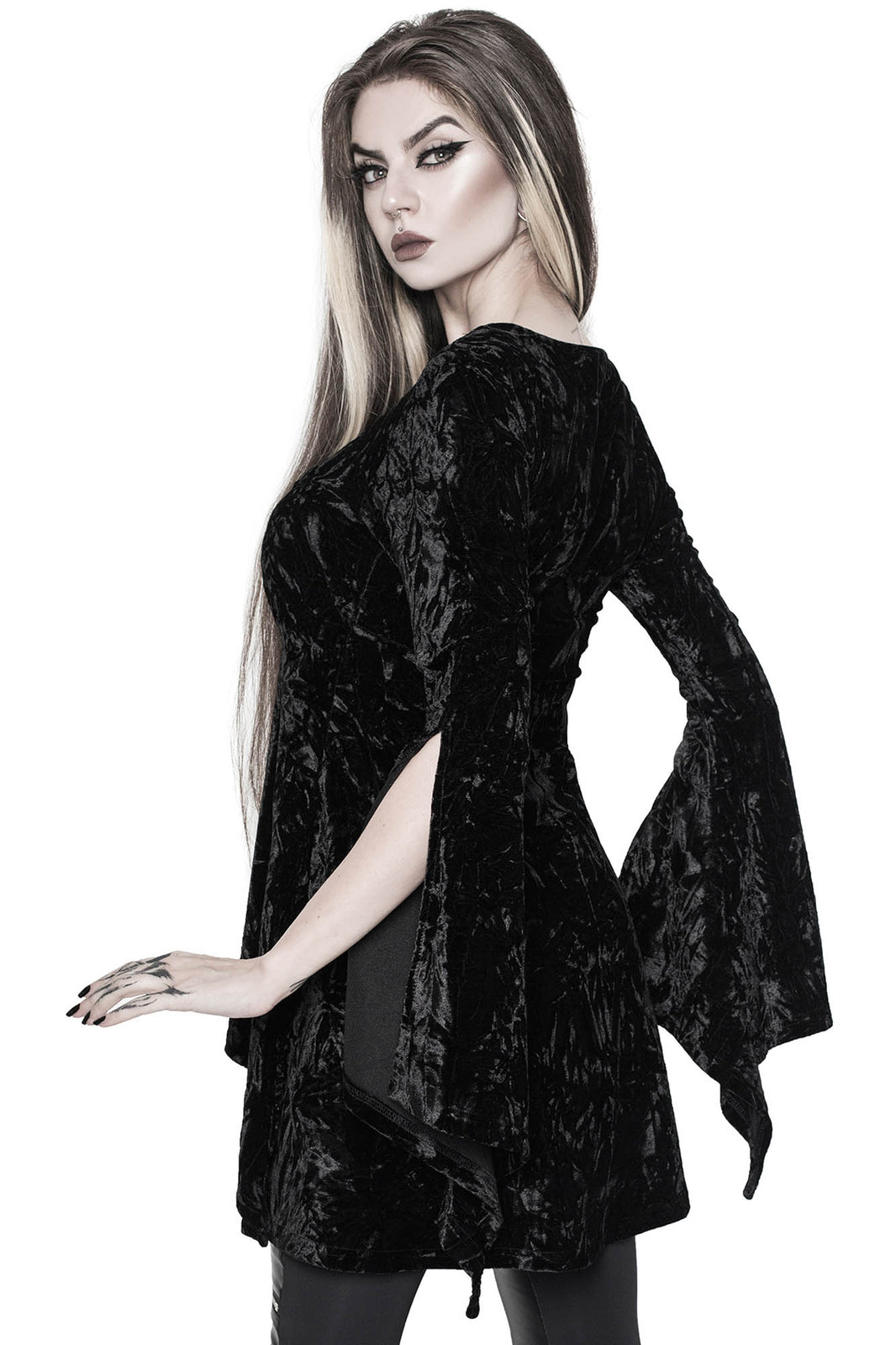 Piercing Long-Sleeve Tunic