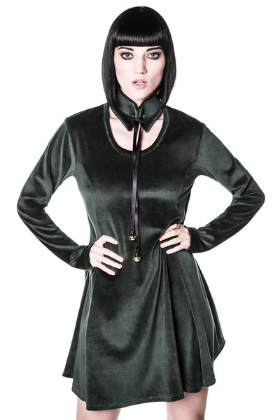 Pussycat Skater Dress [EMERALD]