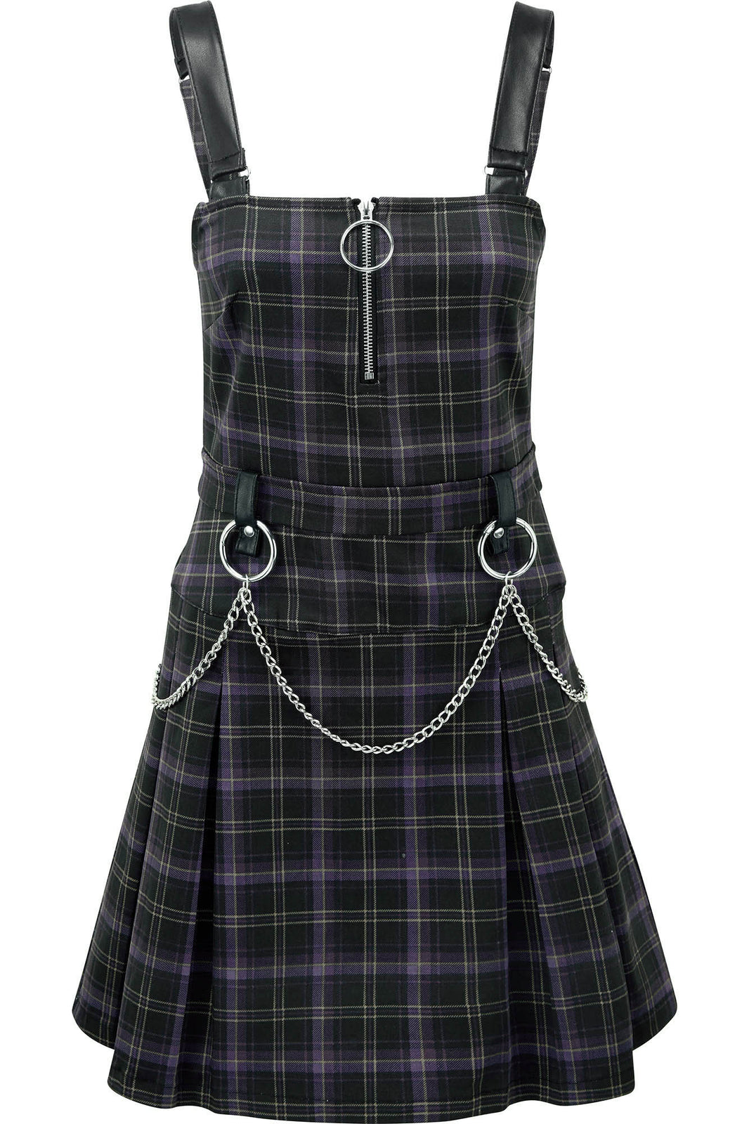 Regan Pinafore Dress [TARTAN]