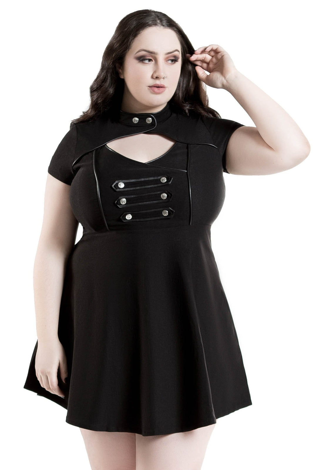 Regiment Skater Dress [PLUS]