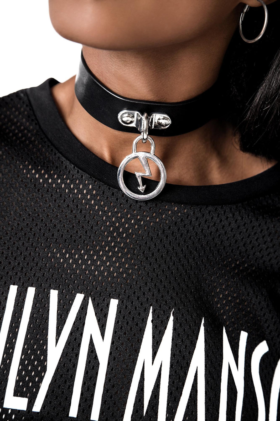 Repent Faux Leather Choker [B]