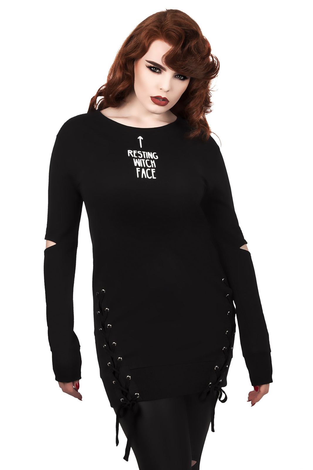 Resting Witch Face Sweatshirt [B]