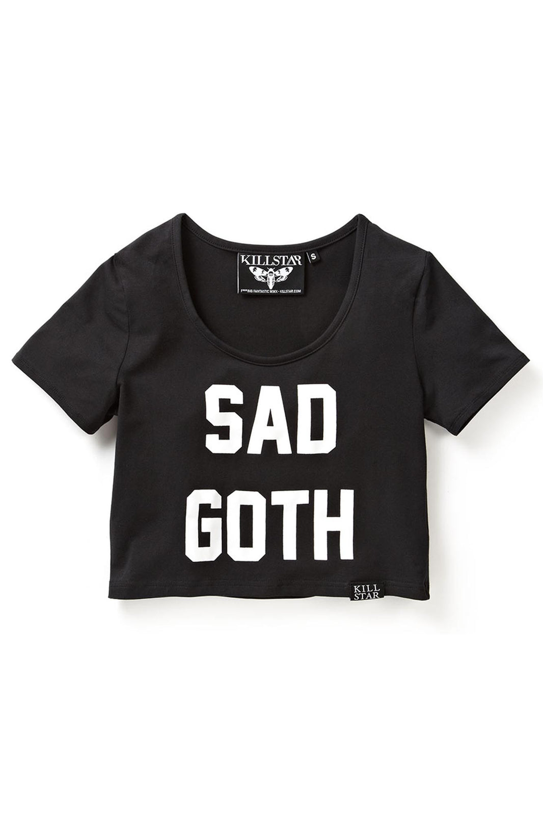 Sad Goth Scoop Neck Crop Top [B]