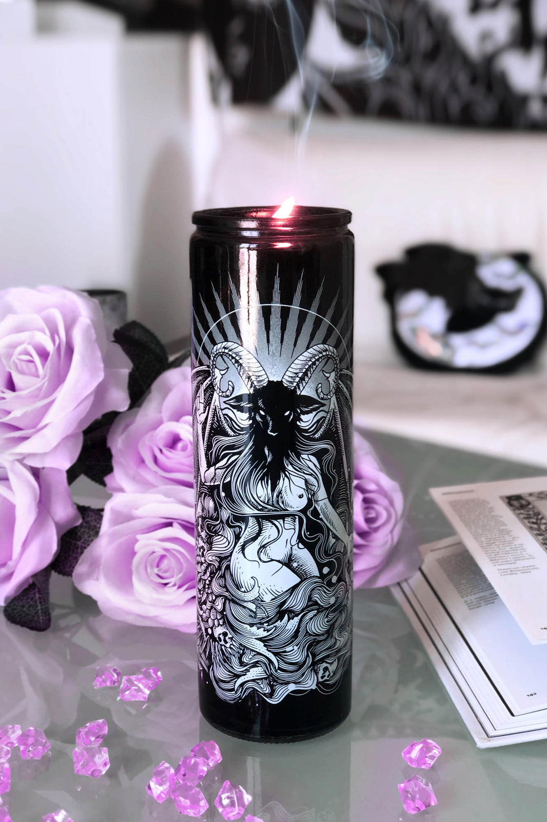 Satan Is A Woman Church Candle