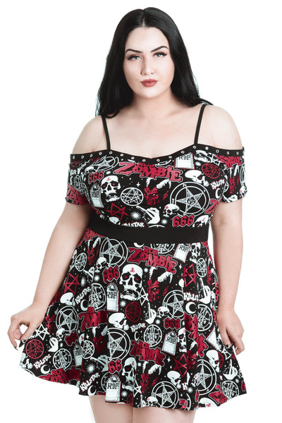 Spookshow Bardot Dress [PLUS]