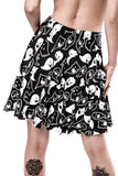 Spooky Forget Sleep Skater Skirt [B]
