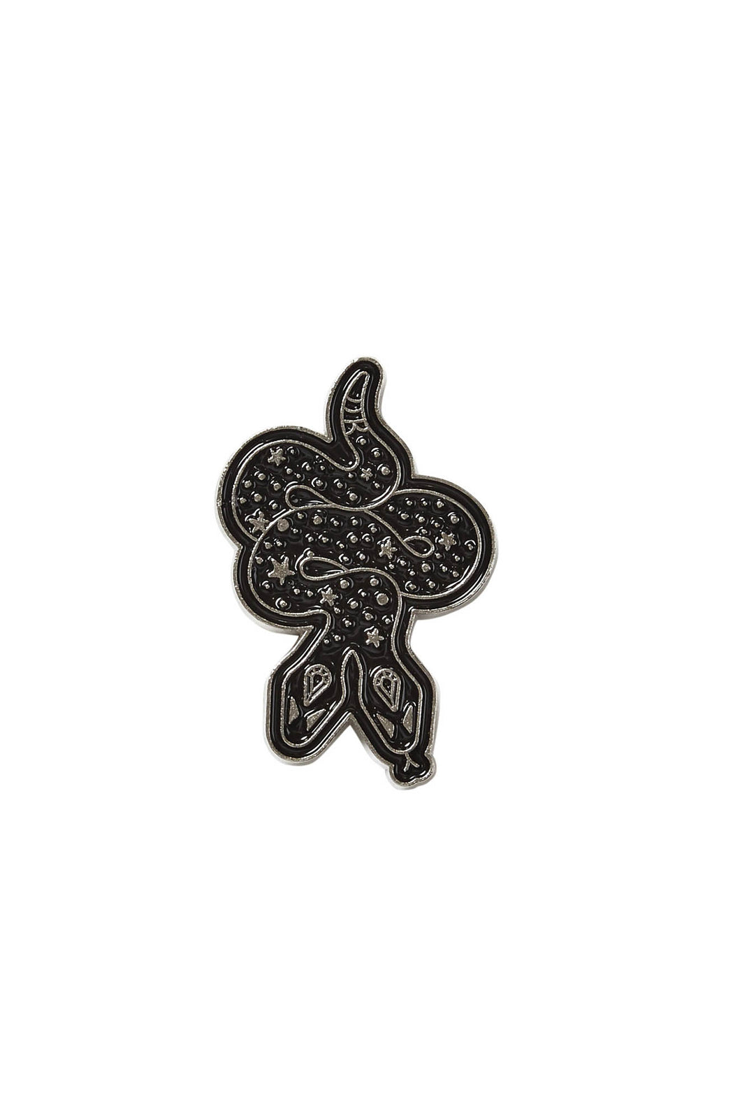 Cross Badge Enamel Pin Black 1 x 2cm