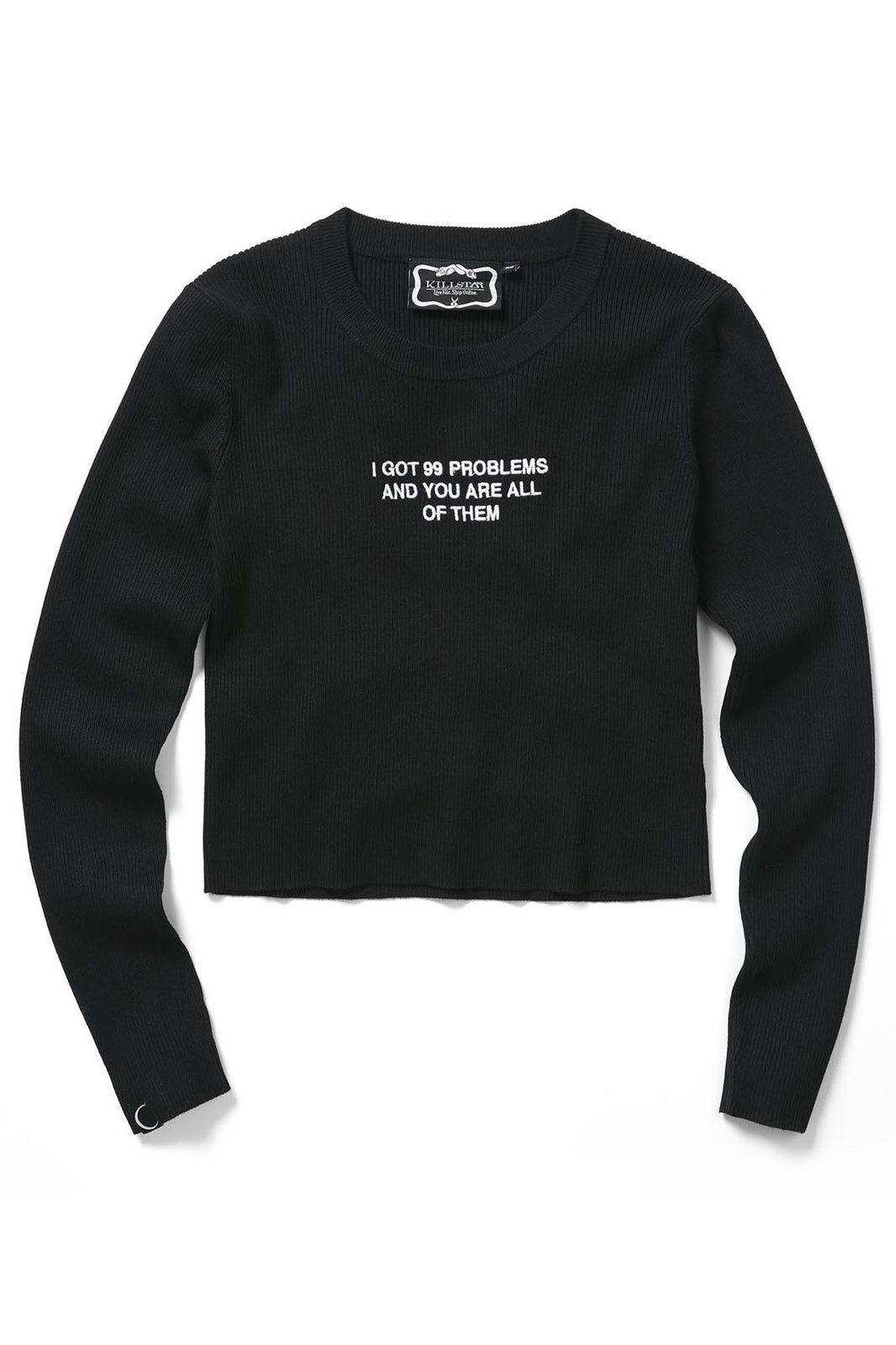 Ur The Problem Ribbed Sweater [B]