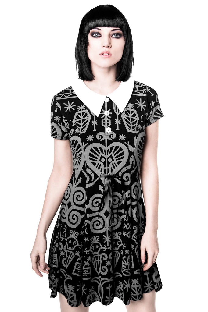Voodoo Doll Dress [GREY]