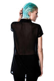 Wednesday Chiffon Collar Top [ONYX]