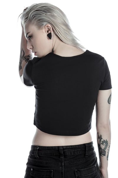 Weird Girl Scoop Neck Crop Top [B]