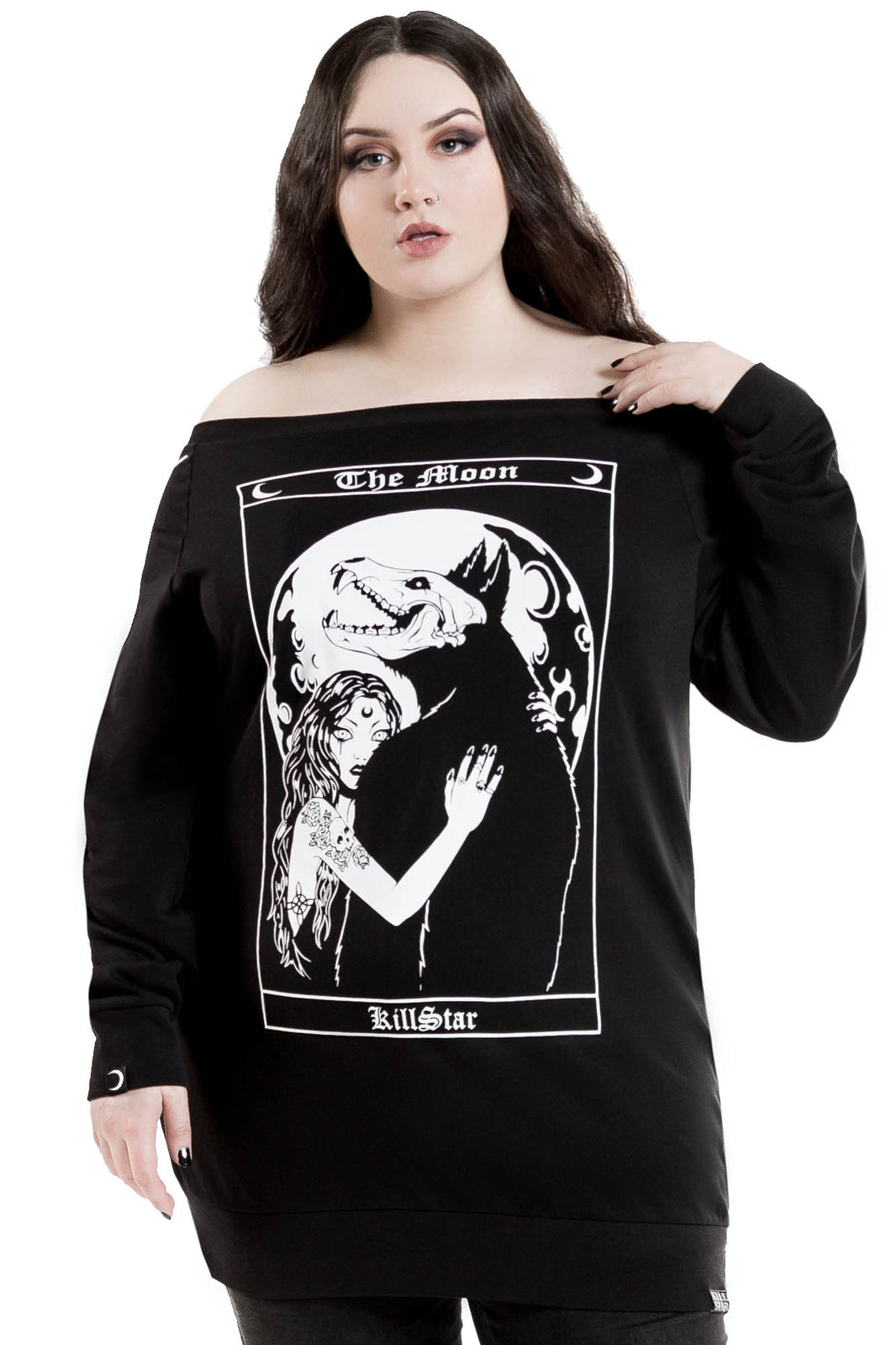 Wolf Moon Sweater Dress [PLUS]