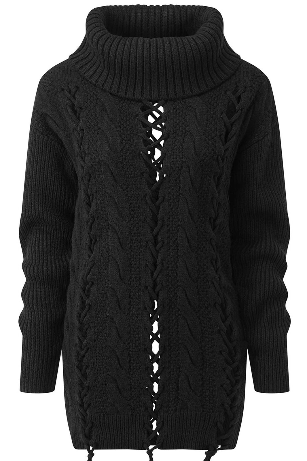 Zora Lace-Up Knit Sweater