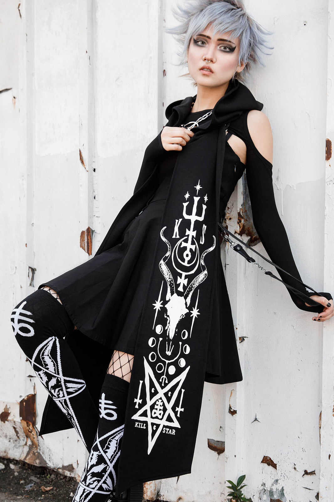 Temple Hooded Scarf