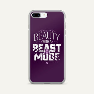 Beauty With A Beast Mode iPhone Case