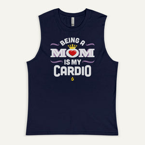 Being A Mom Is My Cardio Men's Muscle Tank