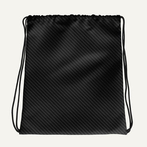 Carbon Fiber Texture Drawstring Bag