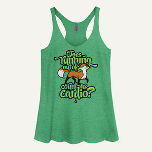 Does Running Out Of Fox Count As Cardio? Women's Tank Top