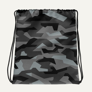Geometric Camouflage Drawstring Bag — Urban