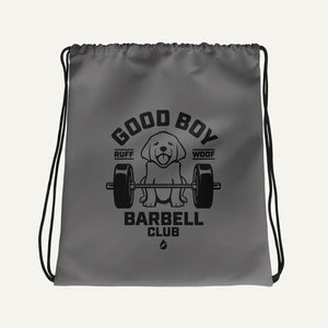 Good Boy Barbell Club Drawstring Bag