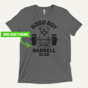 Good Boy Barbell Club Personalized Men's T-Shirt — Pit Bull
