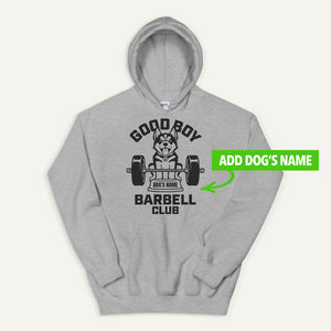 Good Boy Barbell Club Personalized Pullover Hoodie — Siberian Husky