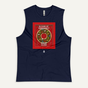 In Case Of Emergency Break Glass (Donut) Men's Muscle Tank