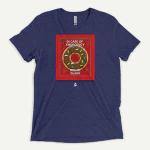 In Case Of Emergency Break Glass (Donut) Men's T-Shirt