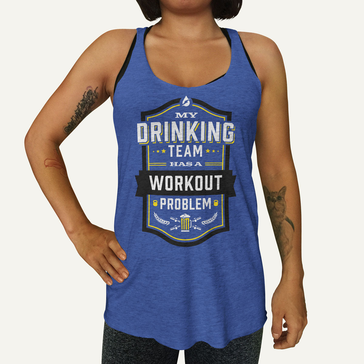 f12ad667 My Drinking Team Has A Workout Problem Women's Tank Top
