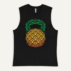 Pineapple Kettlebell Design Men's Muscle Tank