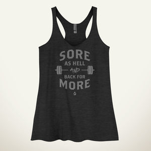 Sore As Hell And Back For More Women's Tank Top