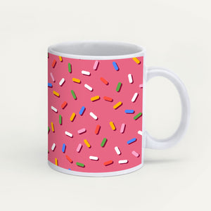Sprinkles On Pink Glaze Mug
