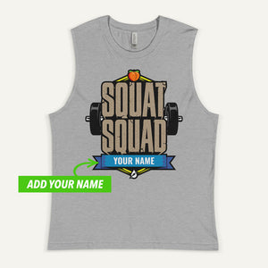 Squat Squad Personalized Men's Muscle Tank
