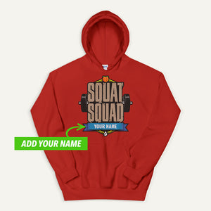 Squat Squad Personalized Pullover Hoodie