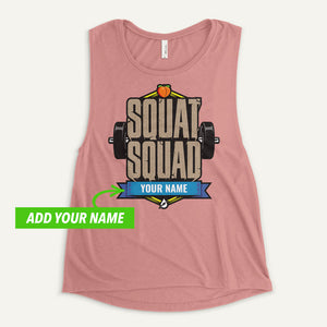 Squat Squad Personalized Women's Muscle Tank