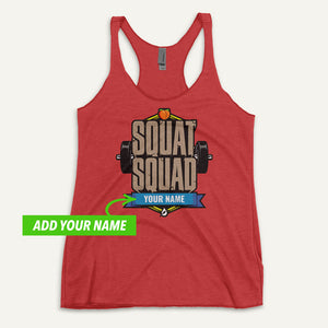 Squat Squad Personalized Women's Tank Top