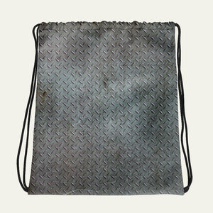 Steel Diamond Plate Drawstring Bag