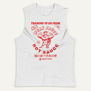 Training To Go From Weak Sauce To Hot Sauce Men's Muscle Tank