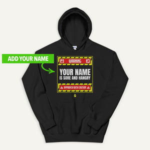 Warning Sore And Hangry Personalized Pullover Hoodie