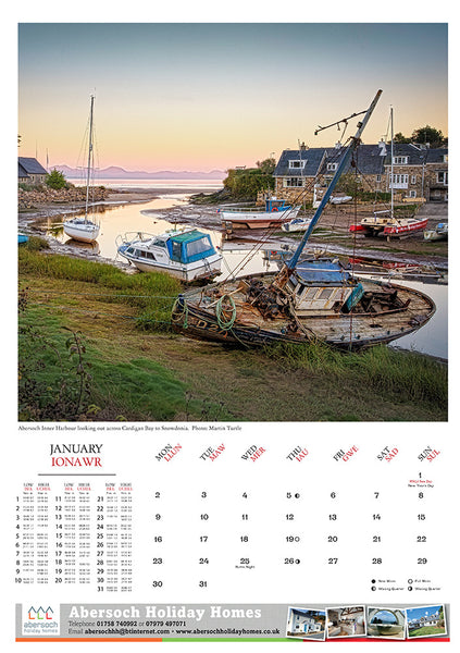Pack of 3 Abersoch 2017 Calendars
