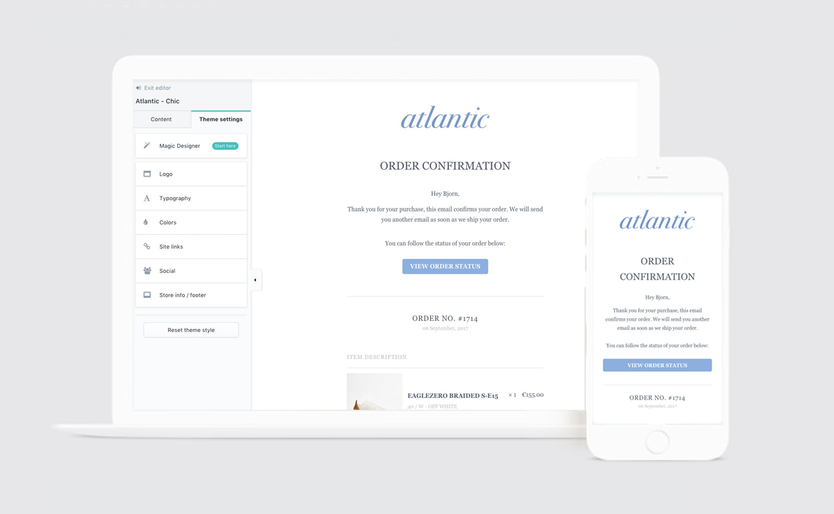 Introducing The Atlantic Email Templates For Shopify