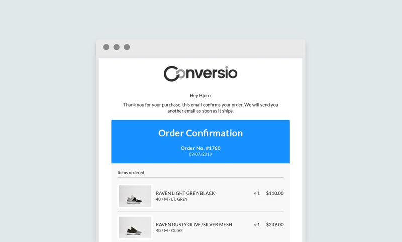 Introducing the Conversio email theme for Shopify