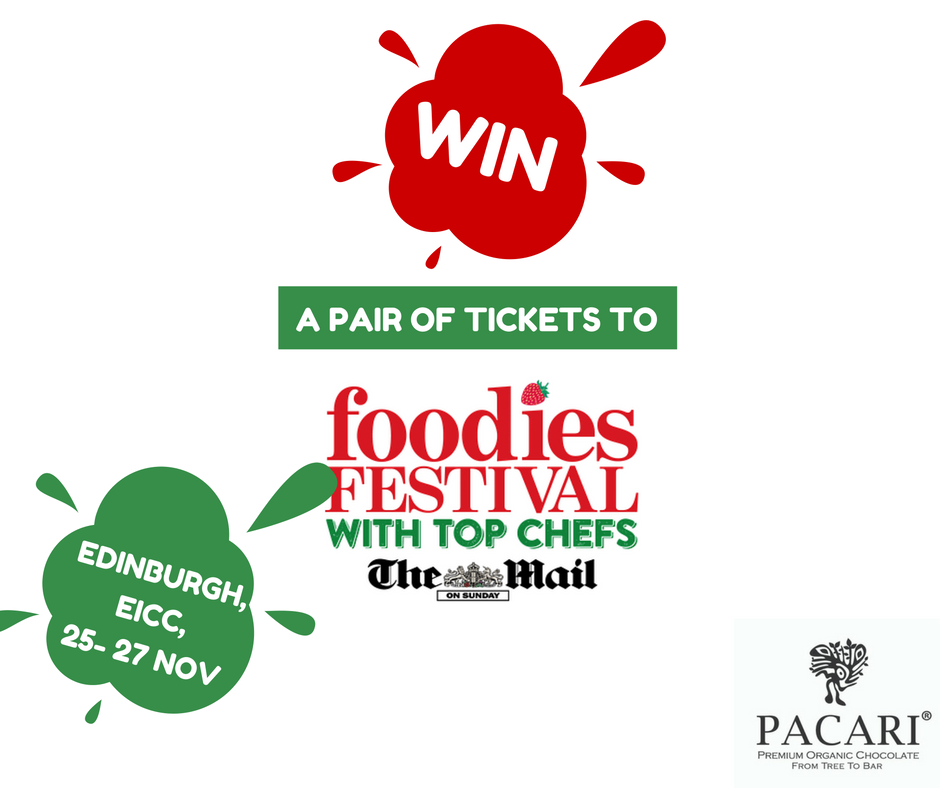 Win two pairs of tickets to the Foodies Festival Edinburgh