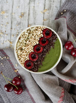 Green smoothie with Organic Chilli Chocolate