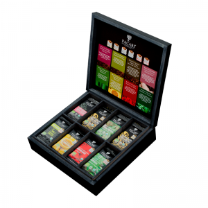 After Dinner Wooden Box with Organic Mini Fine Chocolate (40 bars)