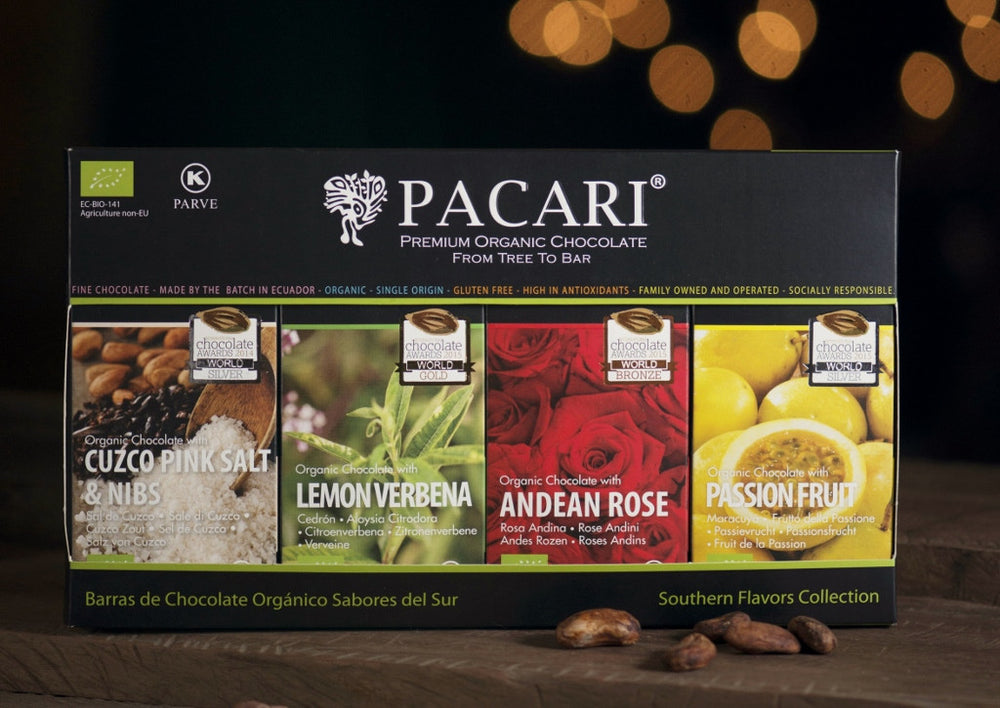 Pacari Southern Flavours Dark Chocolate Gift Set. Vegan, Palm Oil Free.
