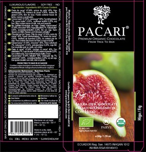 Dark Chocolate Bar with Fig Packaging | Pacari UK